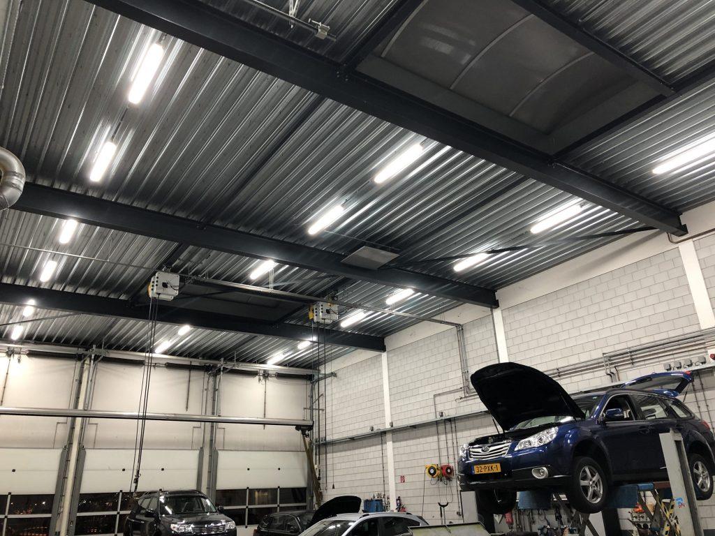 Led verlichting werkplaats